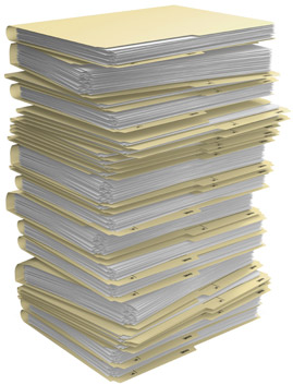 Stack of file folders